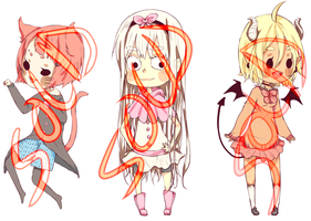 Chibi Adoptables (CLOSED) by juubion