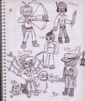 Starbound Characters by uhnevermind