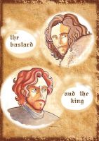 Game of Thrones: Jon Snow and Robb Stark by Teodora85