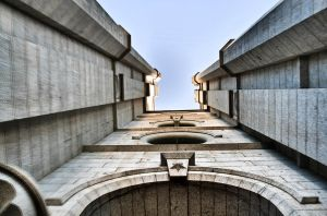 HDR LOOKING UP TEMPLE by clinekurt78
