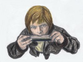David Bowie on harmonica by gagambo