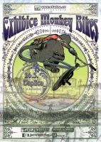 monkey bikes_ poster by umeadzgn