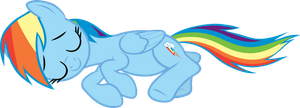 Rainbow Dash sleeping by FabulousPony