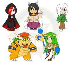 Assorted Chibis - OCs and Smash by Dragon-FangX