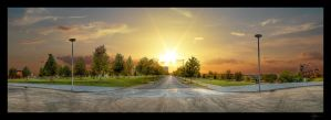 Sunset Street Pano HDR by joelht74