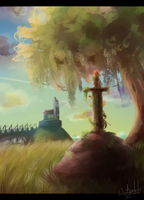 The sword in the Stone by waterloks