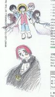 My cosplays in drawings by evilfuzzle2