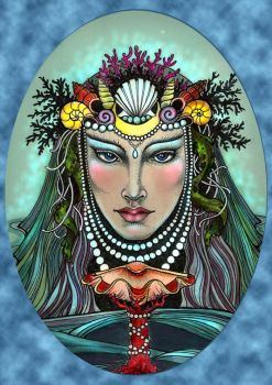 Queen of Cups by Zingaia