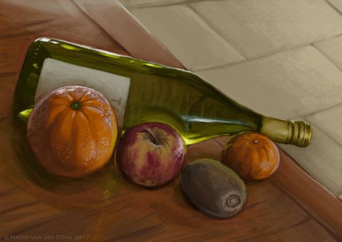 Still life painting by NadiavanderDonk