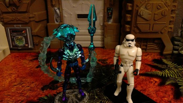 Microman AcroBiom and Storm Trooper by wmpyr