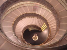 Stairs in Vatican Museum by Siila02