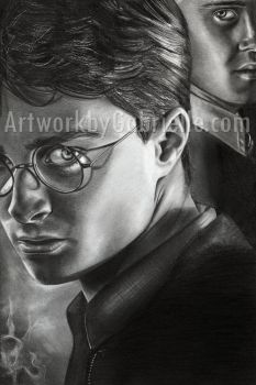 Harry and Draco Drawing by gabbyd70