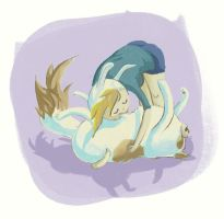 Fionna and Cake belly hugs by lookhappy