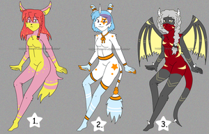 [OPEN 1/3] Various Anthro Adoptables 50% off by izka197