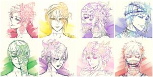 Kuroko no Basket -Headshot Sketches by saru-chikin
