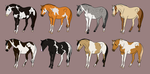 Adoptable Set 12 by angry-horse-for-life