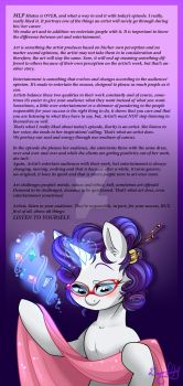Rarity's Art. by Dragonfoxgirl