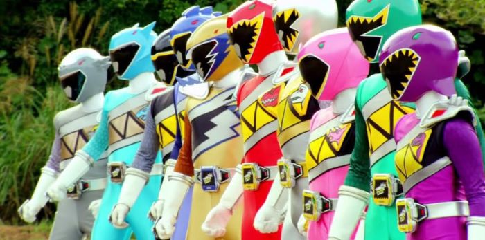 All 10 Dino Super Charge Rangers by NataliaGorm