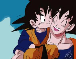 goku and goten by Katy0x