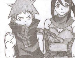 Black Star and Tsubaki by AnimePortraits