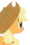 Applejack Vector002 (looking left zoom) by LimeDreaming