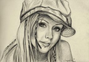Christina Aguilera - Portrait Practice #0006 by Fjalldis