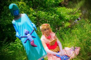 Princess Zelda and The Great Fairy Queen by auress