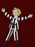 Groening-style Beetlejuice by Psych93