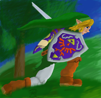 Smash Brothers Melee Link by RachBurns