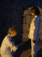 Aido bowing to Kaname by Soranoo