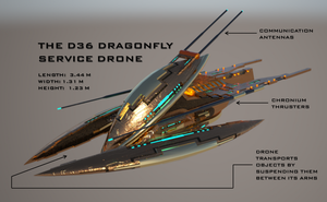 D-36 Dragonfly Service Drone by Universe-of-Dusk