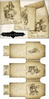 Printable Alice in Wonderland Tea Bag Envelopes by VectoriaDesigns