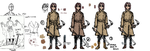 Trench coat/French coat reference sheet by Banasee