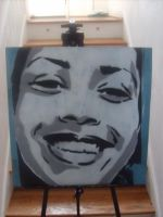 'Smile' on Wood by RickyGunther