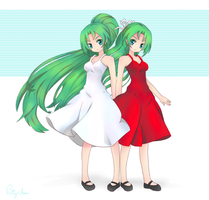 Mion and Shion by Patychan