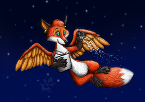 Gift art: Making it snow by FoxedRot