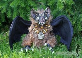 Angus The Bat - OOAK doll by bt-v