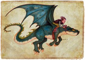 The Dragon Rider by TheArtofAdamKnight