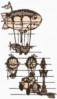 Airship Sketches by videolizzard99