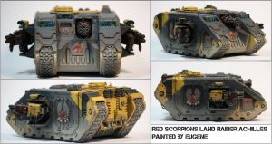 Red Scorpions Land Raider Achilles by ARKURION