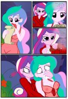 EQG Comic: No Rest For Celestia (Page 1) by Pyruvate