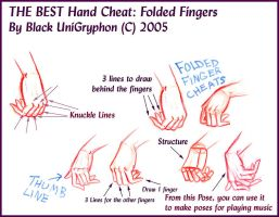 BEST HAND Cheat Folded Fingers by BlackUniGryphon
