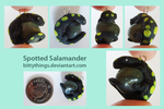 Stone Pendant - Spotted Salamander by Bittythings