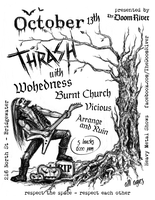 The DoomRiver Show Poster 'October Thrash' by red20