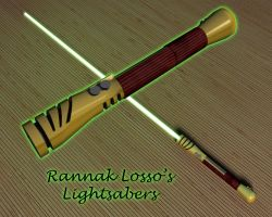 Rannak Losso's Lightsaber by kytjunon