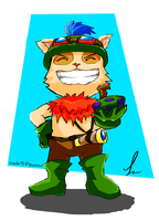 Teemo's here by xiaolee92