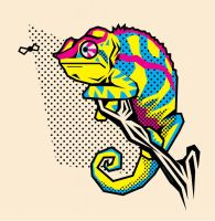 CMYK Chameleon by Man0uk