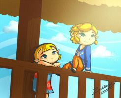 Wind Waker: Big brother... by Zelbunnii