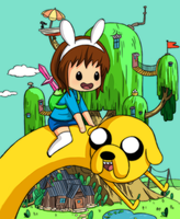 Me with Jake the dog by meloncrisis