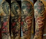 Geisha sleeve progress by strangeris